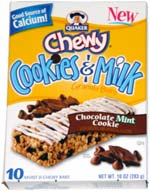 Quaker Cookies & Milk Granola Bars Chocolate Mint Cookie