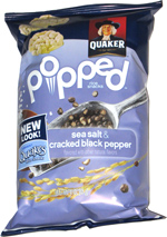 Quaker Popped Sea Salt & Cracked Black Pepper