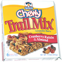 Quaker Chewy Trail Mix Granola Bars Cranberry Raisin & Almond