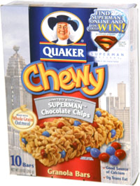 Quaker Chewy Superman Chocolate Chips Granola Bars