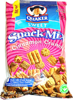 Quaker Sweet Snack Mix Cinnamon Crunch