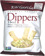 RW Garcia Dippers 3 Seed Savory Dipping Chips Himalayan Pink Salt & Tellicherry Cracked Pepper