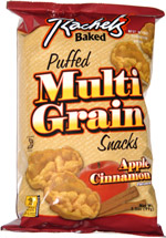 Rachel's Baked Puffed Multi Grain Snacks Apple Cinnamon