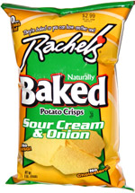 Rachel's Naturally Baked Potato Crisps Sour Cream & Onion