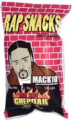 Rap Snacks Mack 10 Red Hot Cheddar Cheese Flavored Chips