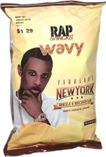 Rap Snacks Fabolous New York Deli Cheddar Wavy Potato Chips