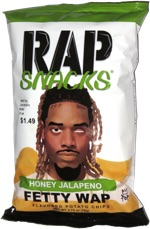 Rap Snacks Honey Jalapeno Fetty Wap Flavored Potato Chips