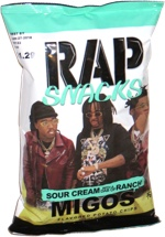 Rap Snacks Migos Sour Cream with a Dab of Ranch Flavored Potato Chips
