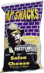 Rap Snacks Pretty Willie Salsa Cheese Flavored Chips