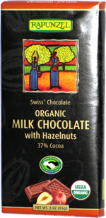 Rapunzel Swiss Chocolate Organic Milk Chocolate with Hazelnuts