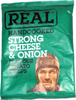 Real Handcooked Strong Cheese & Onion Flavour Potato Crisps