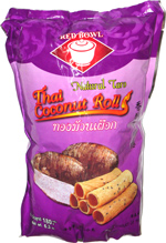 Red Bowl Thai Coconut Rolls Natural Taro