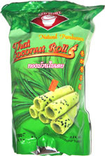 Red Bowl Thai Coconut Rolls Natural Pandanus
