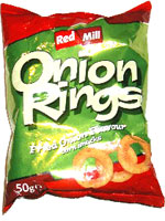 Red Mill Onion Rings Fried Onion Flavour Corn Snacks