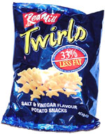 Red Mill Twirls Salt & Vinegar Flavour Potato Snacks