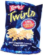 Red Mill Twirls Salt & Vinegar Flavour Potato Snacks