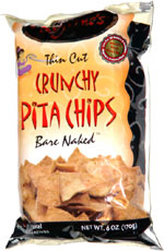 Regenie's Thin Cut Crunchy Pita Chips Bare Naked