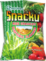 Snacku Rice Crackers Vegetable Flavored
