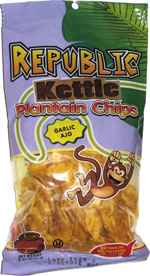 Republic Kettle Plantain Chips Garlic Ajo