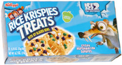 Rice Krispies Treats with Icy Glacier Gems