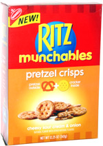 Ritz Munchables Pretzel Crisps Cheesy Sour Cream & Onion