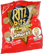 Ritz Bits Sandwiches Graham Cracker S'mores (Simpsons version)