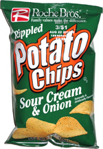 Roche Bros. Rippled Potato Chips Sour Cream & Onion