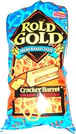 Rold Gold Cracker Barrel Sharp Cheddar pretzels