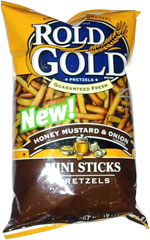 Rold Gold Honey Mustard & Onion Mini Sticks Pretzels