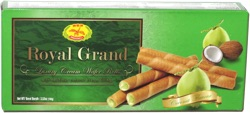 Dragonfly Royal Grand Luxury Cream Wafer Rolls Coconut
