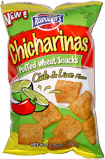 Rudolph's Chicharinas Puffed Wheat Snacks Chile & Lime Flavor