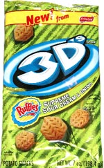 Ruffles 3D's Supreme Sour Cream & Onion flavored potato snacks