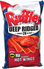 Ruffles Deep Ridged Classic Hot Wings