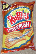 Ruffles Flavor Rush Big BBQ & Cheddar