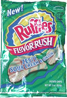 Ruffles Flavor Rush Zesty Sour Cream & Onion