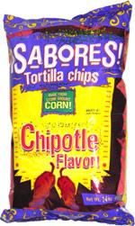 Sabores Tortilla Chips Chipotle Flavor