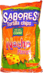 Sabores Tortilla Chips Nacho Flavor