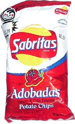 Sabritas Adobadas Tomato & Chile Flavored Potato Chips