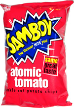 Samboy Atomic Tomato Crinkle Cut Potato Chips