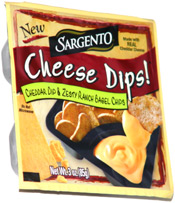 Sargento Cheese Dips! Cheddar Dip & Zesty Ranch Bagel Chips