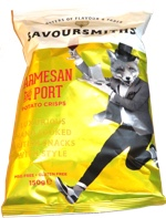 Savoursmiths Parmesan and Port Potato Chips