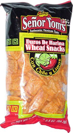 Señor Tom's Wheat Snacks Con Chile y Limon