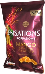 Walkers Sensations Poppadoms Mango & Red Chilli Chutney