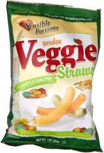 Sensible Portions Garden Veggie Straws Lightly Salted