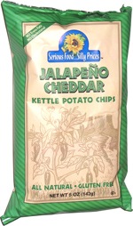 Serious Food ... Sillly Prices Jalapeno Cheddar Kettle Potato Chips