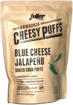 Serious Cheesy Puffs Blue Cheese Jalapeño