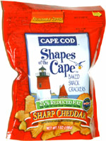Cape Cod Shapes of the Cape 25% Reduced Fat Baked Snack Crackers Sharp Cheddar