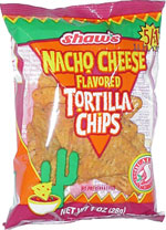 Shaw's Nacho Cheese Flavored Tortilla Chips
