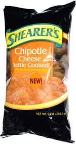 Shearer's Chipotle Cheese Kettle Cooked Extra Crunchy Potato Chips