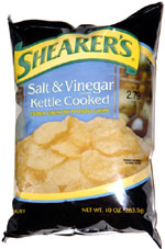 Shearer's Salt & Vinegar Kettle Cooked Extra Crunchy Potato Chips